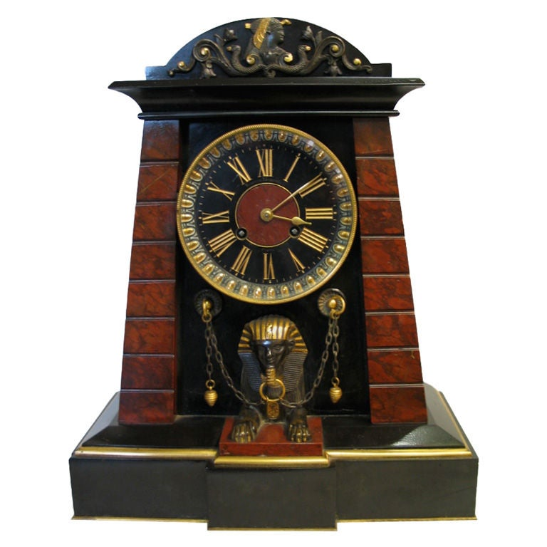 Egyptian Revival Movement Clock At 1stdibs