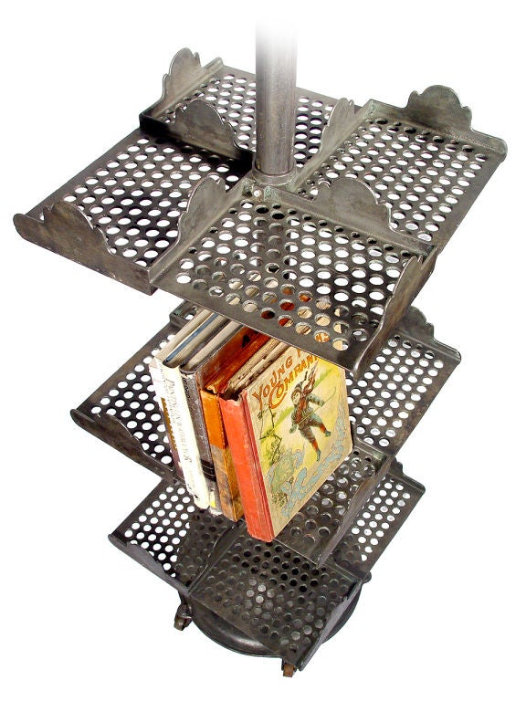 Cast Iron Revolving Book Rack At 1stdibs