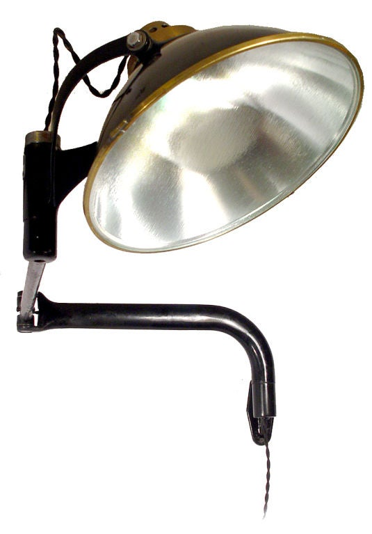 Wall Mounted Spot Lamps : Large Articulated Spot Light - Wall Mounted at 1stdibs