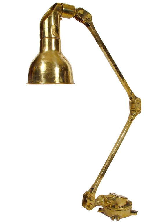Large Articulated Brass Marine Map Reading Light At 1stdibs
