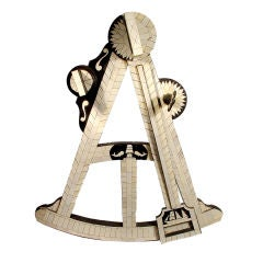 3 Foot Tall Wood & Ivory Trade Sign - Mariner's Octant
