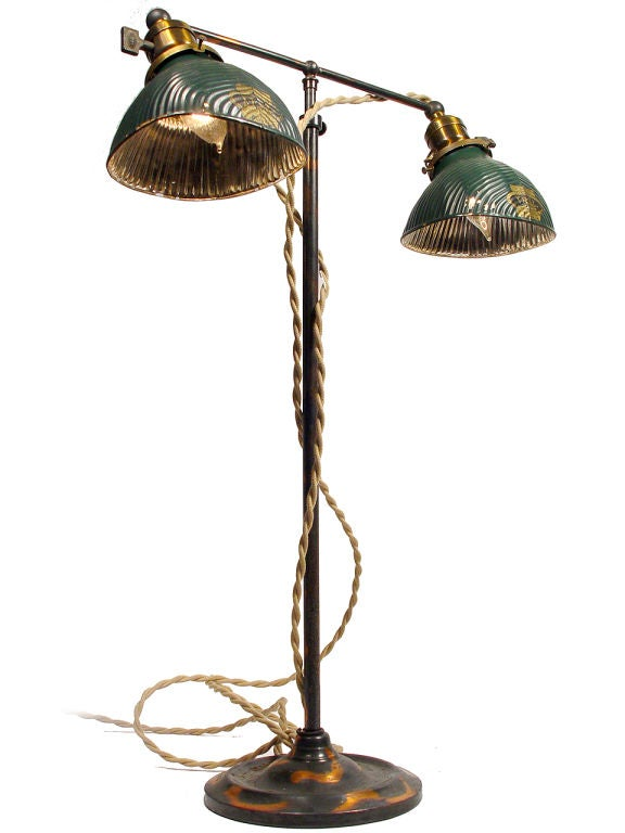 Double X Ray Lamp With Japanned Finish At 1stdibs