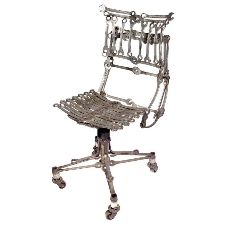 Sculptural Skeletal Industrial Wrench Chair At 1stdibs