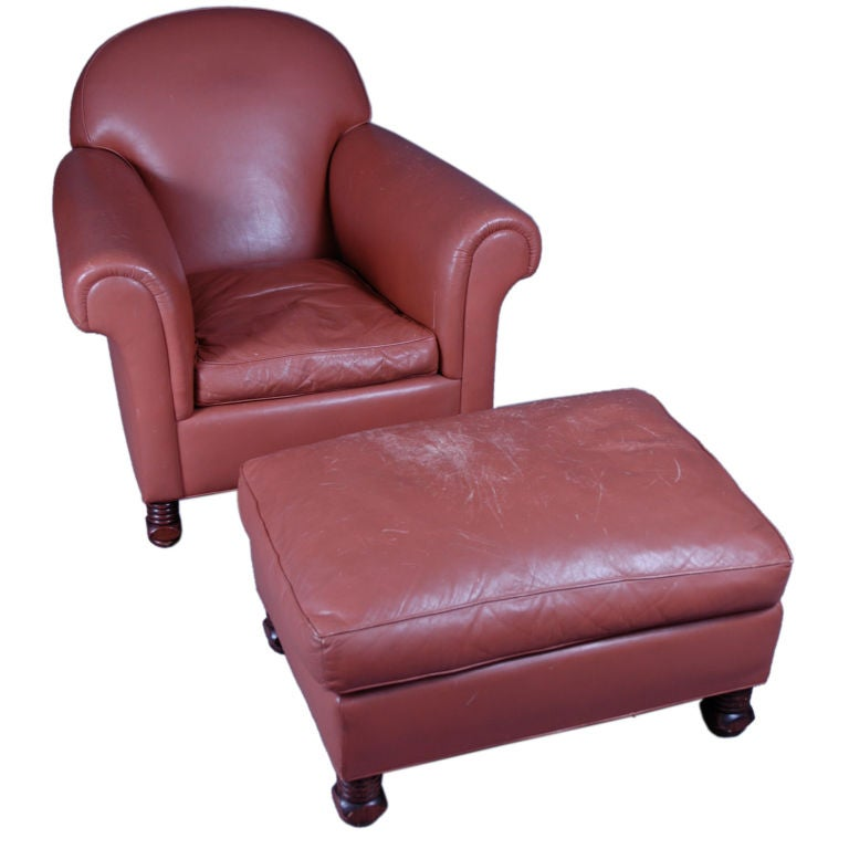 American Dream Chair And Ottoman At 1stdibs