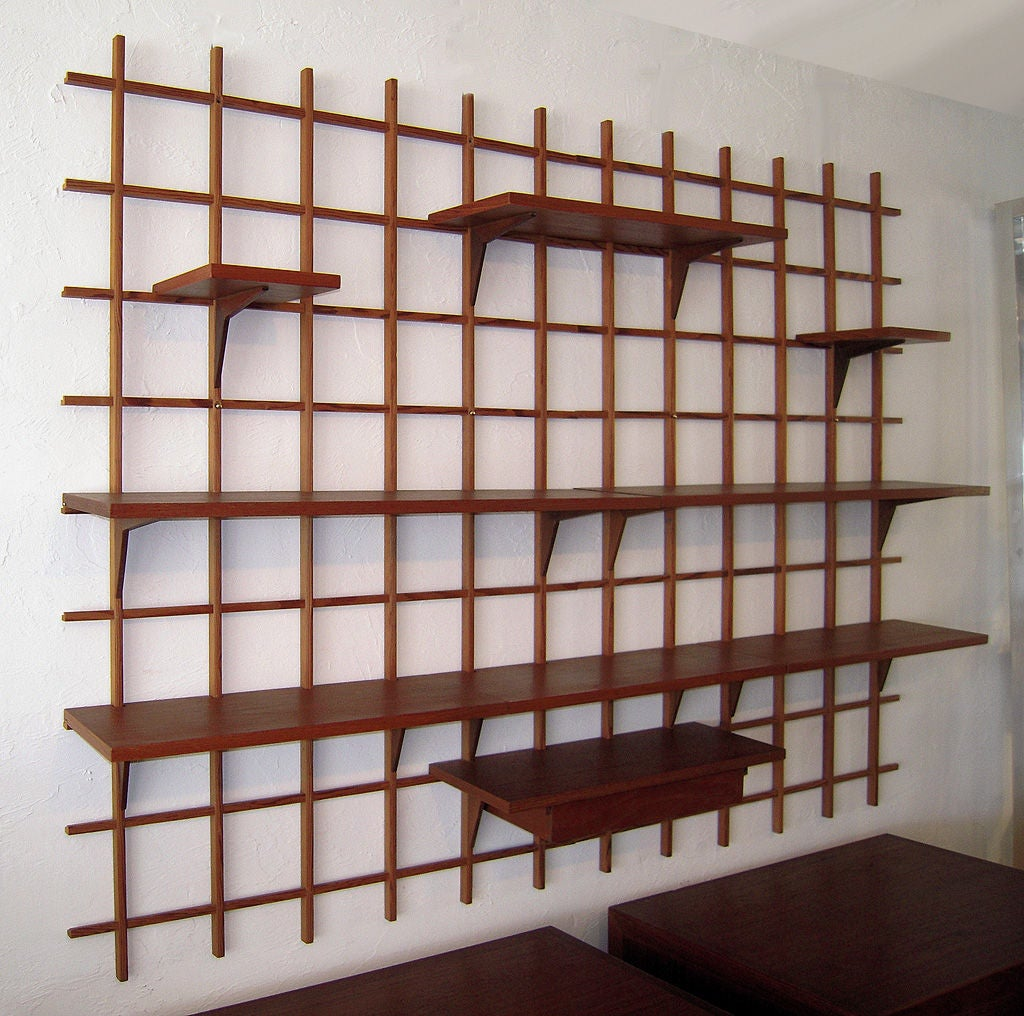 Danish Modern Wall Mounted Display Shelf Image 7