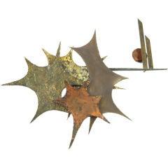 Large Brutalist Stylized Starburst sculpture