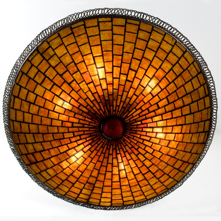 "Tiffany Studios New York ""Parasol"" Chandelier image 2"