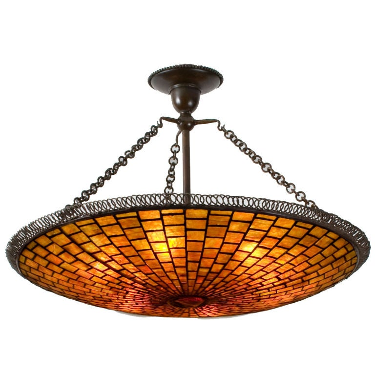 "Tiffany Studios New York ""Parasol"" Chandelier 1"