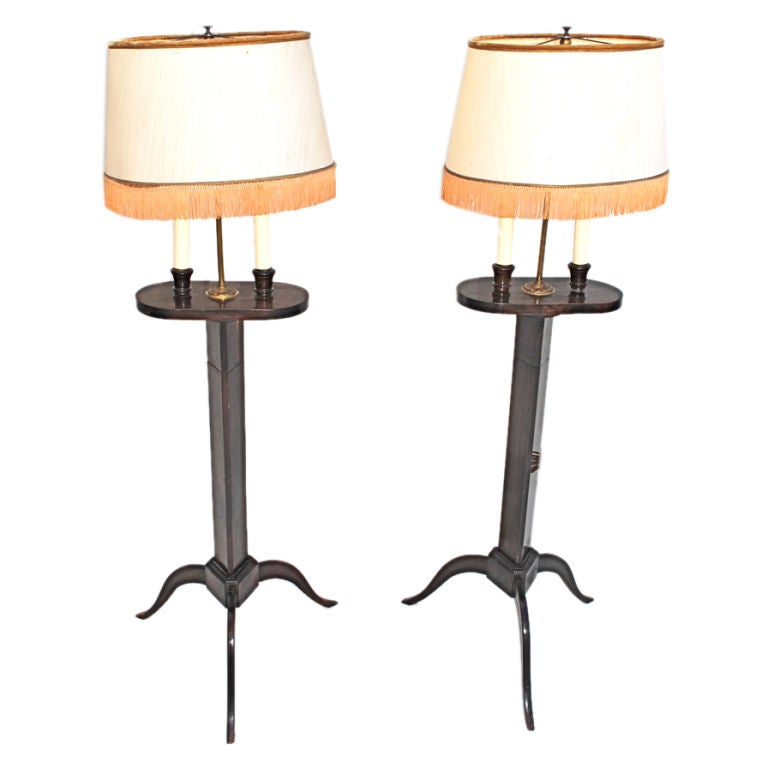 antique pair of french floor lamp for sale at 1stdibs. Black Bedroom Furniture Sets. Home Design Ideas