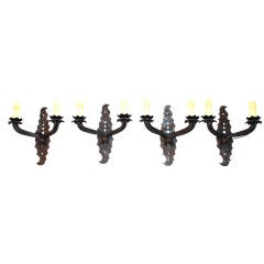 Antique set of four French Sconces By Jacques Adnet For