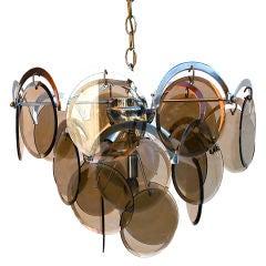 Beautiful italian 1960 chandelier design by VISTOSI