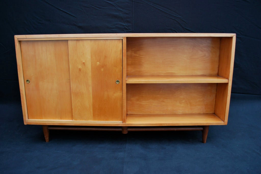 American Mid century room divider/credenza by Merton L. Gershun   For Sale