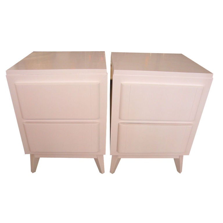 Pair of rway lacquered sides at 1stdibs for R way bedroom furniture