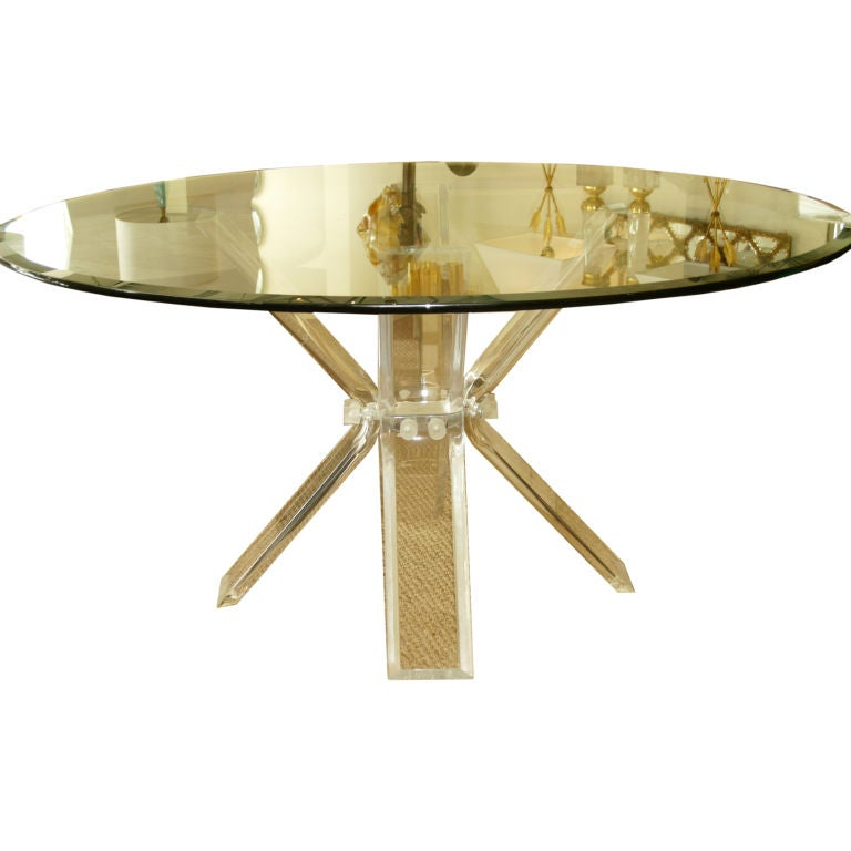Butterfly lucite dining table at 1stdibs for Butterfly dining table