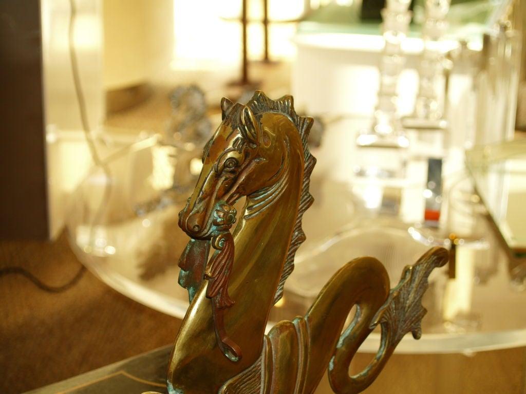 Italian Venitian Bronze Sea Horse For Sale