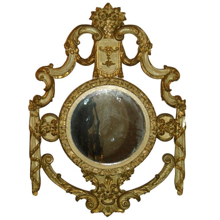 Elegant florintine carved mirror at 1stdibs for Elegant mirrors