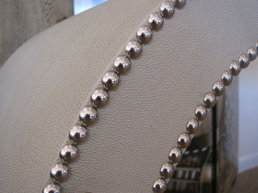 Machine-Made Faux Shagreen Double-Sided Studded Waterfall Console Table For Sale
