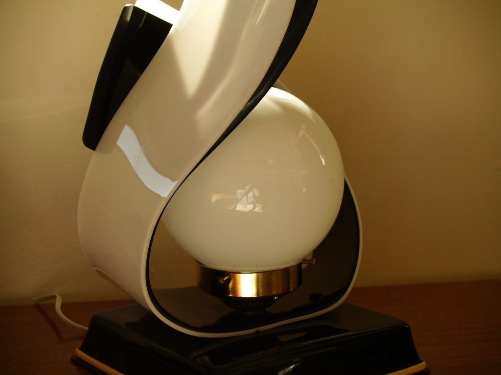 Fun Plexi Lamps With Glass Globe At 1stdibs