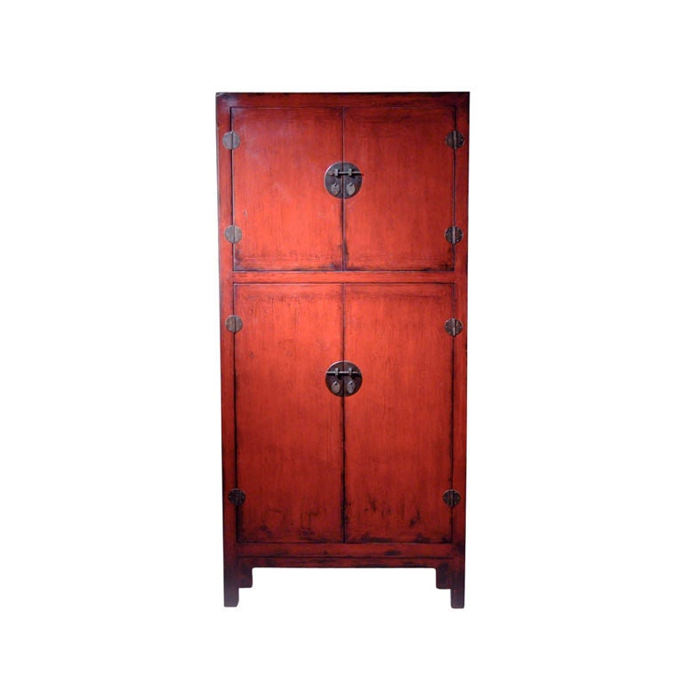 chinese red cabinet with four doors at 1stdibs