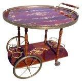 Vintage Italian Tea Cart / Serving Trolley