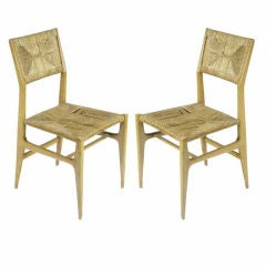 Pair of Gio Ponti Chairs for M. Singer & Sons