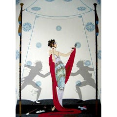 """Erte """"The Duel"""" Hand Signed & Numbered Serigraph 246/300"""