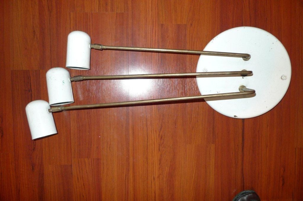 Yasmin Wall Light 2 Arm : Stilnovo 3 Arm Flushmount or Wall Light at 1stdibs