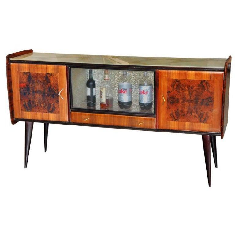 1950 39 s italian sideboard bar cabinet at 1stdibs. Black Bedroom Furniture Sets. Home Design Ideas