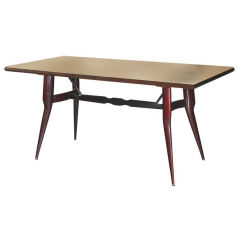 Vittorio Dassi Palisander Dining Table with Marbleized Glass Top