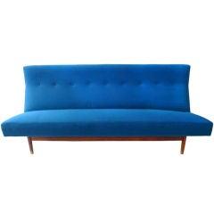 Vintage Jens Risom Walnut Frame Sofa