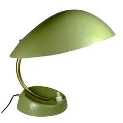 Vintage Italian Apple Green Lamp