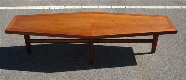 Nakashima for Widdicomb Coffin Shaped Coffee Table at 1stdibs