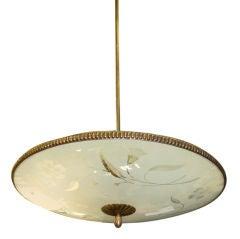 """1940's Italian """"Flying Saucer"""" Pendant"""