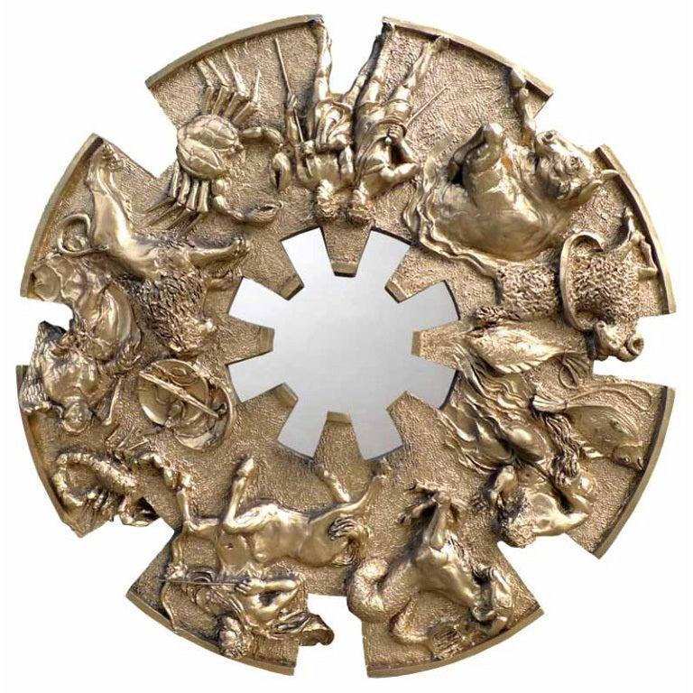 Brutalist Zodiac Mirror