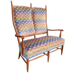 1960's American High-back Chieftain Settee