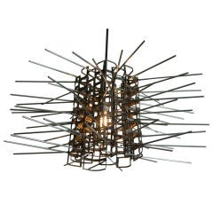 Salvaged Metal Light Fixture: Starpower