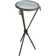 Three Legged French Wrought Iron Table