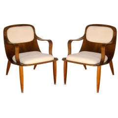 Pair of Heywood Wakefield Lounge Chairs