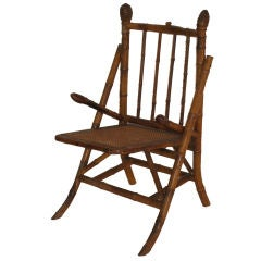 Early 20th Century English Bamboo Chair