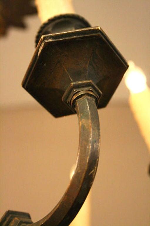 Early 20th C Italian Adam Style Bronze Chandelier For Sale 1