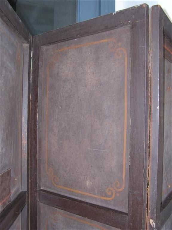 English Four Panel Leather Screen 6