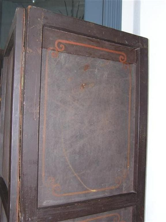 English Four Panel Leather Screen 7