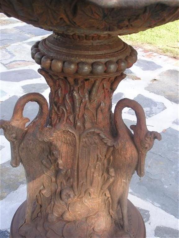 American Cast Iron Three Tiered Decorative Fountain, Fiske , NY .  Circa 1860 For Sale 5