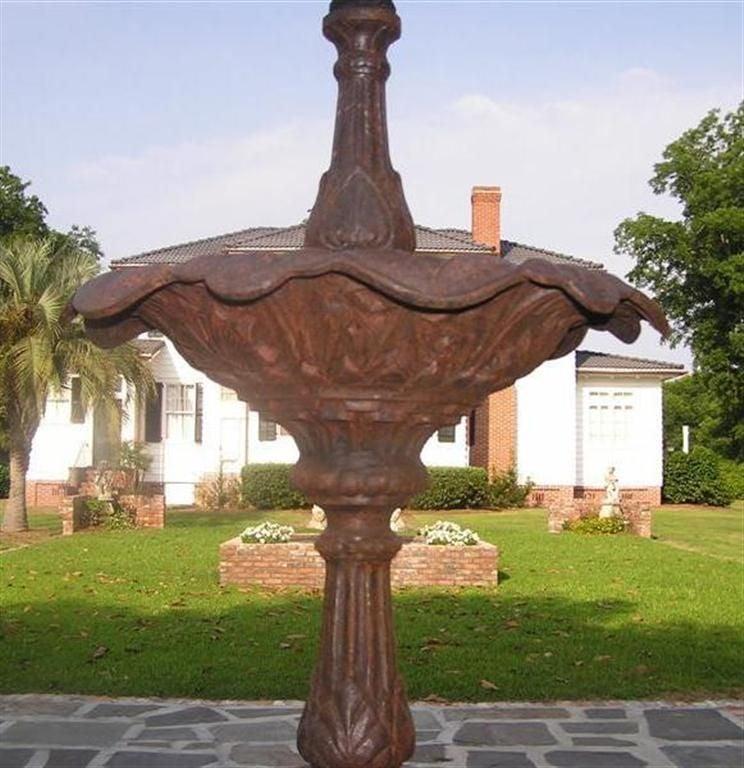 American Cast Iron Three Tiered Decorative Fountain, Fiske , NY .  Circa 1860 For Sale 2