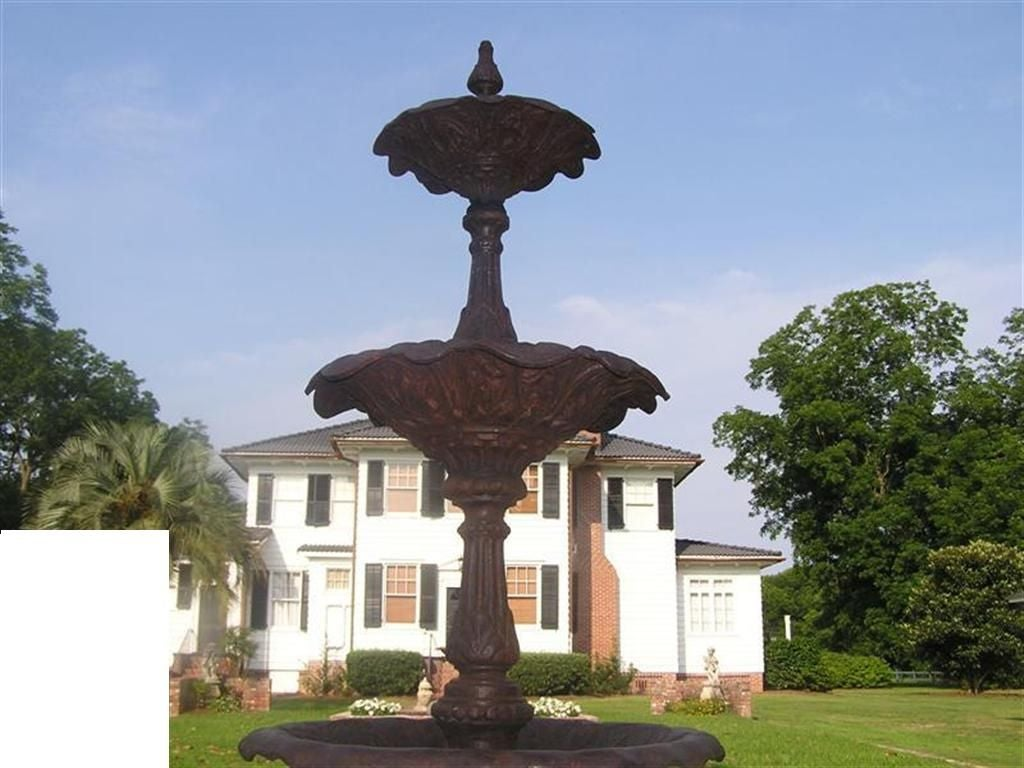 American Cast Iron Three Tiered Decorative Fountain, Fiske , NY .  Circa 1860 For Sale 3