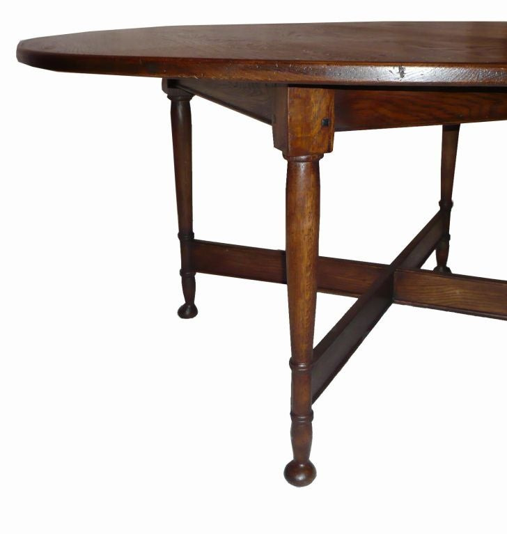 English Provincial Style Oak Dining Table 20th Century At 1stdibs