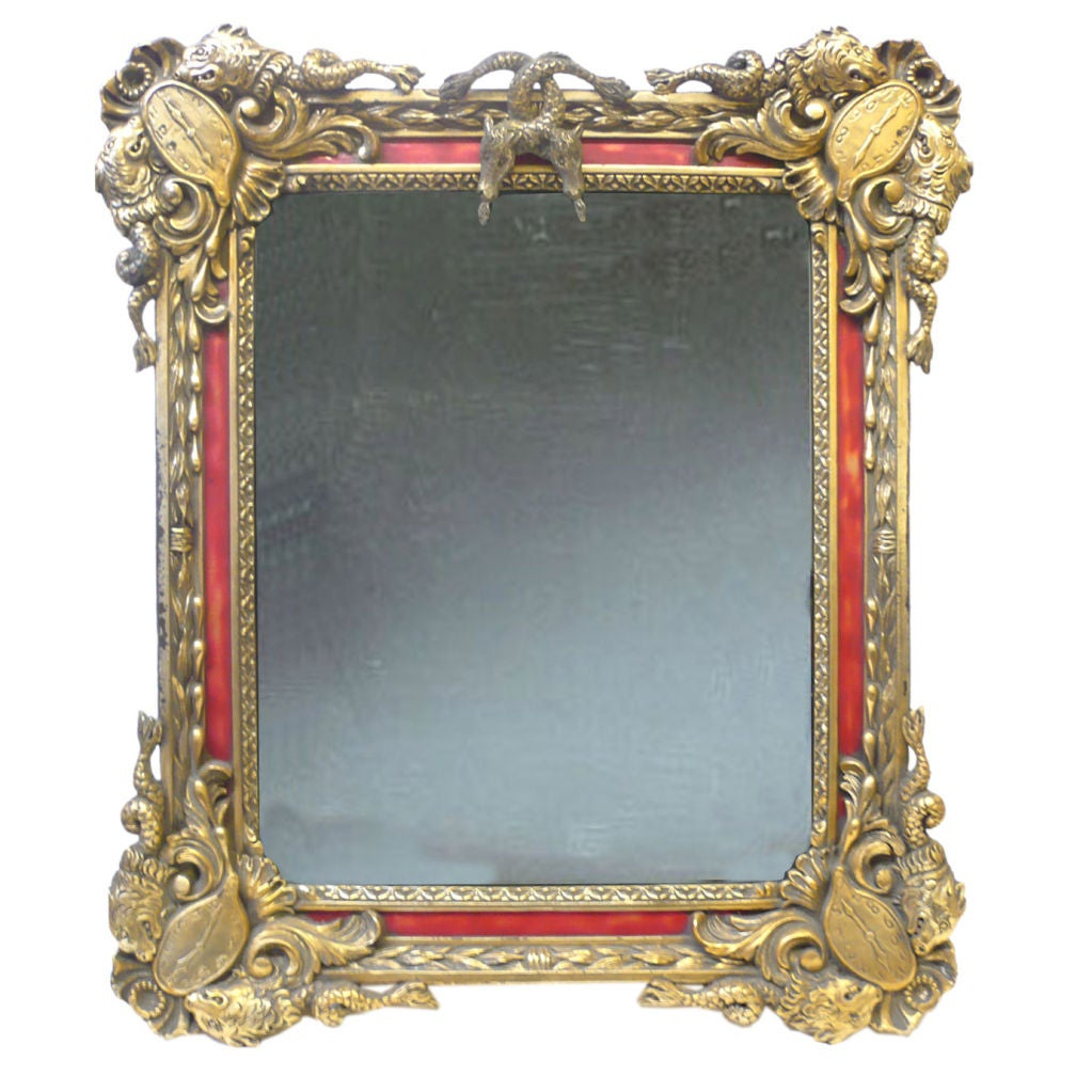 Salvador Dali Gilded and Lacquered Mirror 20th Century