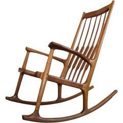 American Craftsman Rocking Chair in Indiana Black Walnut