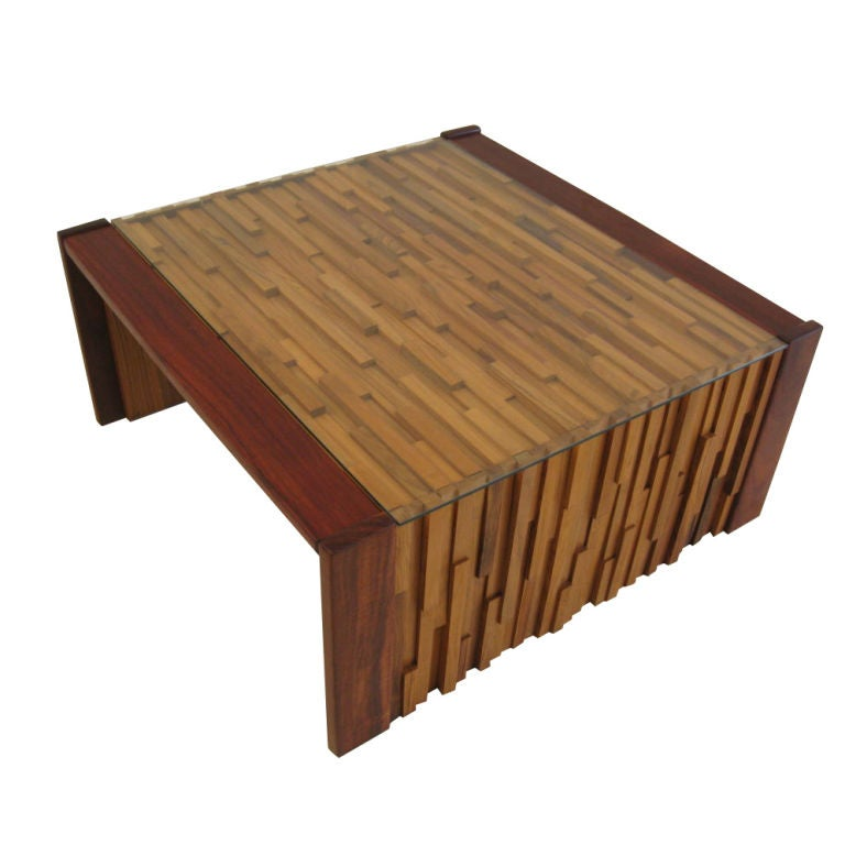Butcher Block Coffee Table by LAtelier at 1stdibs