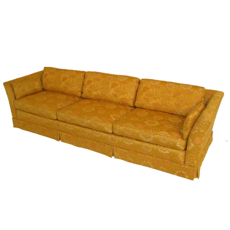 Custom Silk Upholstered Sofa By Marge Carson At 1stdibs